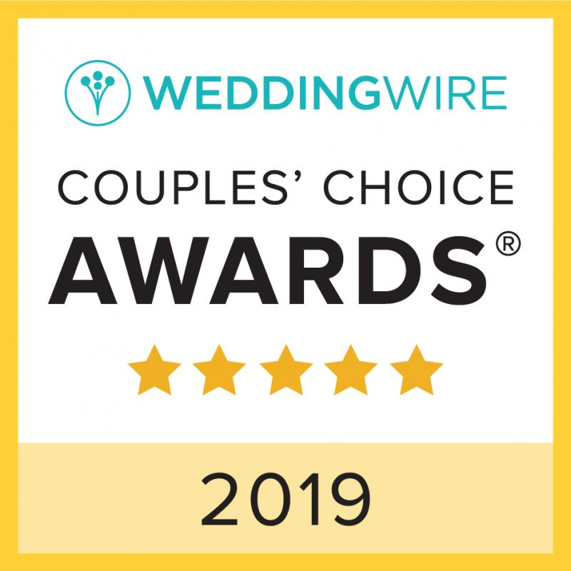 2019 Couples Choice Award from Wedding Wire